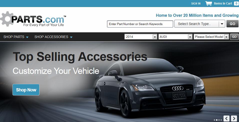 parts.com audi-on-home-page-2014-June-14