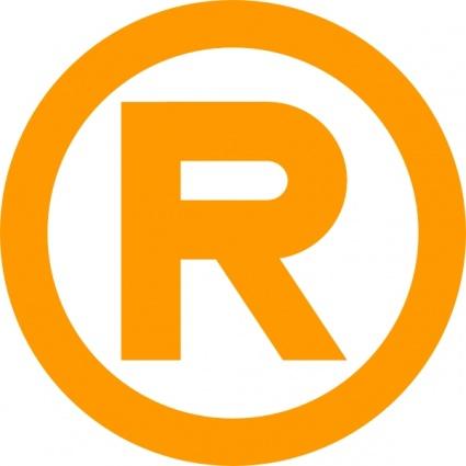 Registered Trademark Symbol in gold