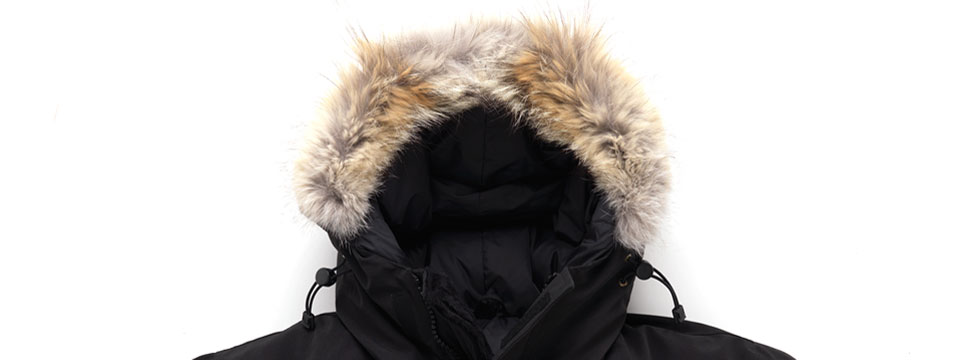 >Canada Goose parka authentic fur ruff